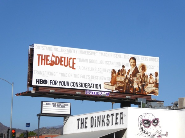 Deuce Golden Globes FYC billboard