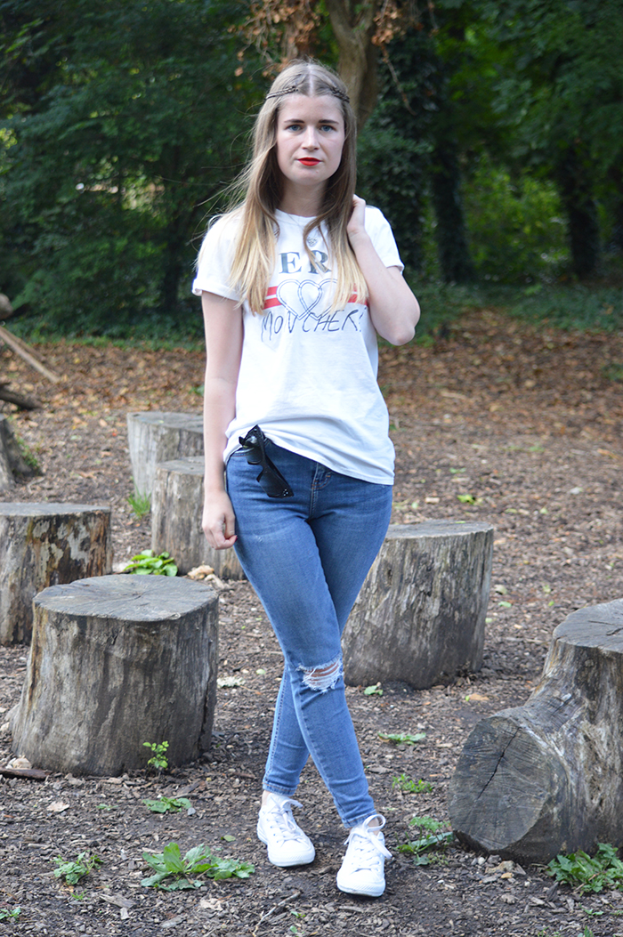 Topshop slogan tee fashion bloggers