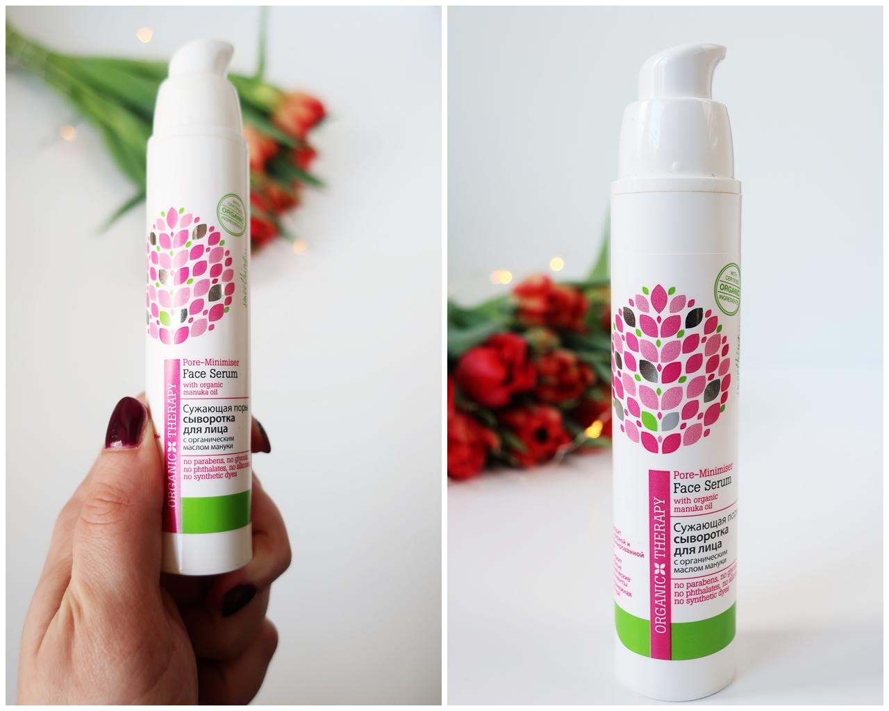 Organic Therapy zwężające pory serum do twarzy kosmetyki naturalne