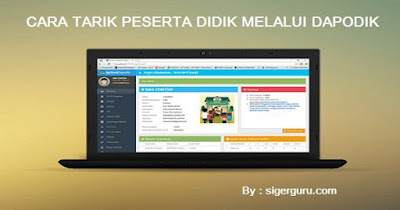 Cara Tarik Peserta Didik Baru/PD Online Dapodik 2019 (Dapodikdasmen)