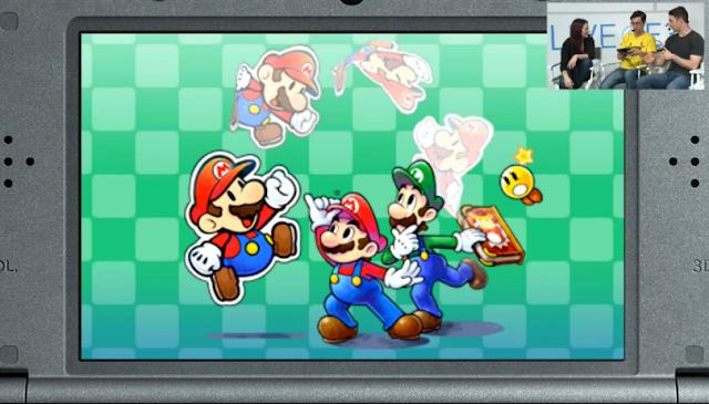 Mario & Luigi Paper Jam artwork Nintendo 3DS Treehouse Live Starlow title demo