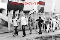 1e événement de Sauvakävely 5.1.1997 devant le Stade Olympique d'Helsinki