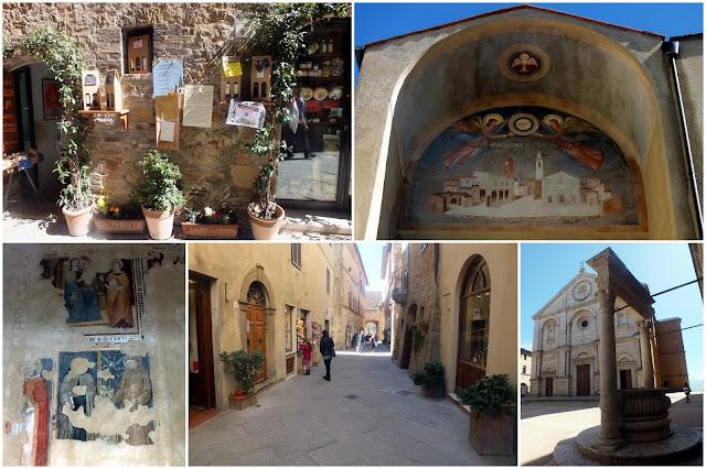calles de Pienza en la Toscana