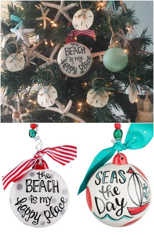Beach Quote Ornaments