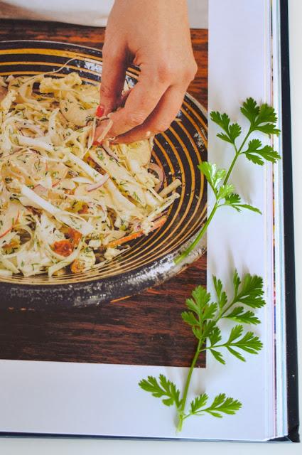 itämainen slaw, coleslaw, yrttitarha, varhaiskaali