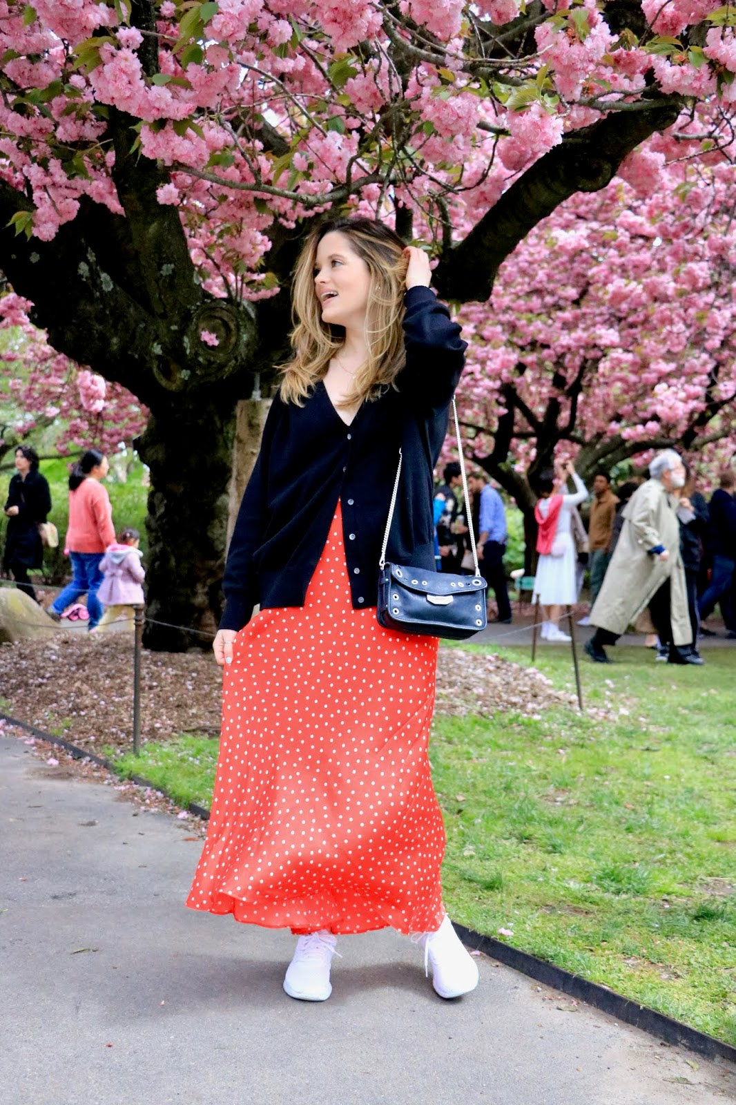 Nyc fashion blogger Kathleen Harper's spring 2019 cherry blossom pics