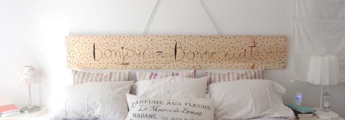 Respaldo de cama diy soy un mix - Ideas para hacer un cabezal de cama ...