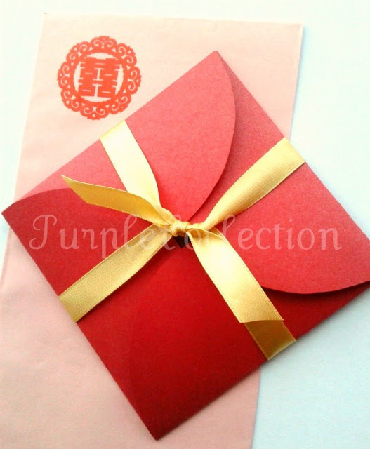 Petal Fold Red Wedding Invitation Card, petal fold card, wedding invitation card, red wedding card, red
