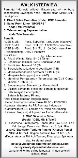 Lowongan Kerja PT. Permata Indonesia