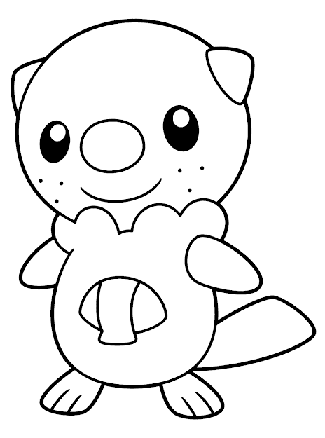 Pokemon Black And White Coloring Pages Of Oshawott Pictures