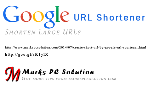 Shorten URLs by Google URL Shortener