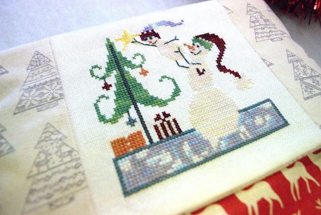 Cross Stitch Christmas Stocking Finish, Handmade Christmas Stocking, SamSarah Designs, Just Cross Stitch Ornament