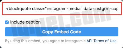 Tutorial Terbaru Memasukkan Script Embed Kode Instagram Ke Dalam Artikel Blogger