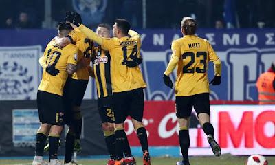 Νίκη της ΑΕΚ απέναντι στον ΠΑΣ Γιάννινα με 4-0...