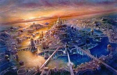 Representación de l ciudad perdida de la Atlántida
