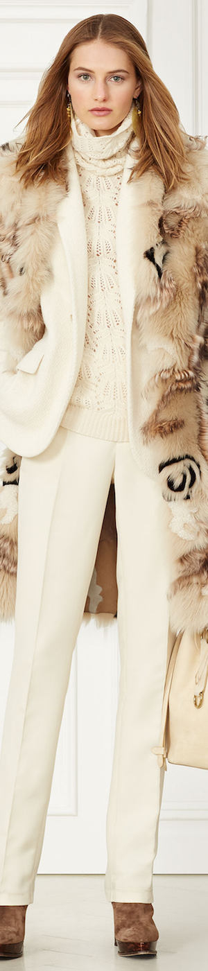 RALPH LAUREN LENORAH SHEARLING COAT