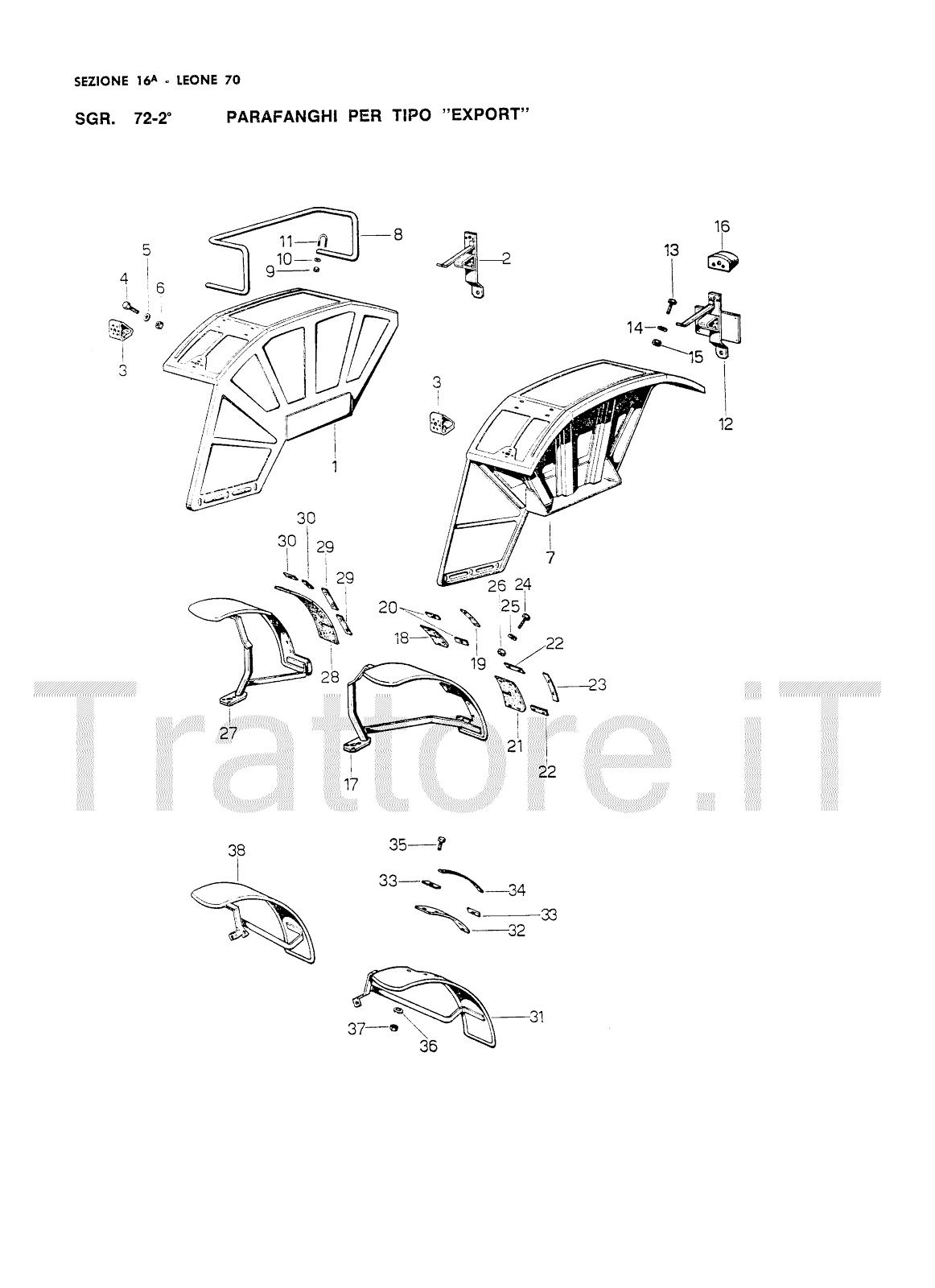 InfoTrattore.it: Manuale (esploso meccanico) per Trattore
