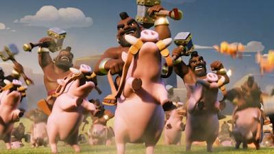 cara menggunakan hog rider coc