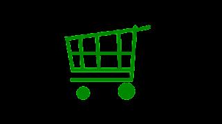 desenho vetorial de Carrinho de compras verde