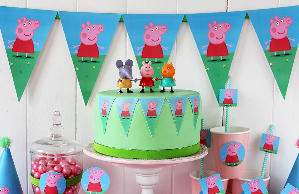 Peppa Pig 22 dise/ños Decoraciones comestibles para magdalenas