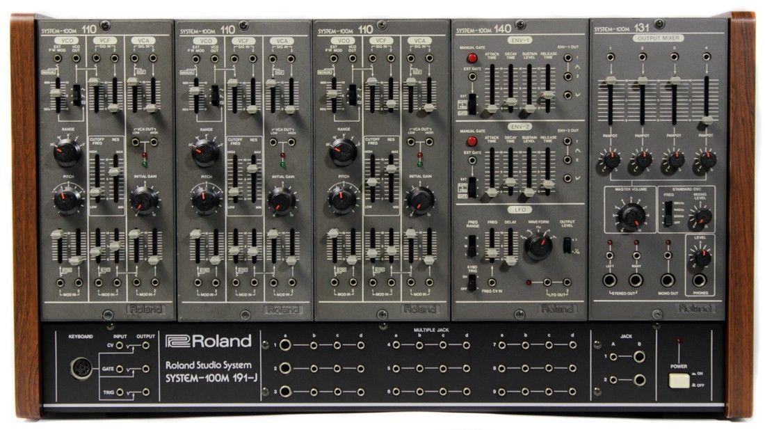 matrixsynth roland system 100m vintage analog modular synthesizer. Black Bedroom Furniture Sets. Home Design Ideas