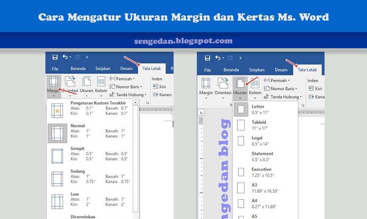 Cara Mengatur Ukuran Margin dan Kertas Ms. Word