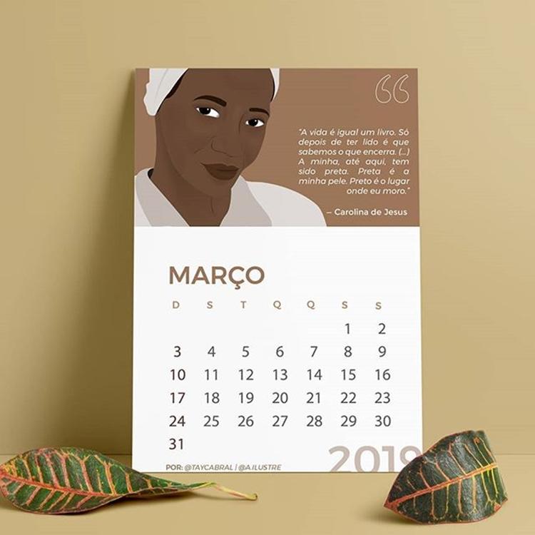 Calendário 2019 por Tay Cabral