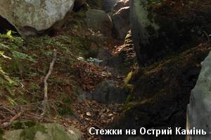 Стежки на Острий Камінь