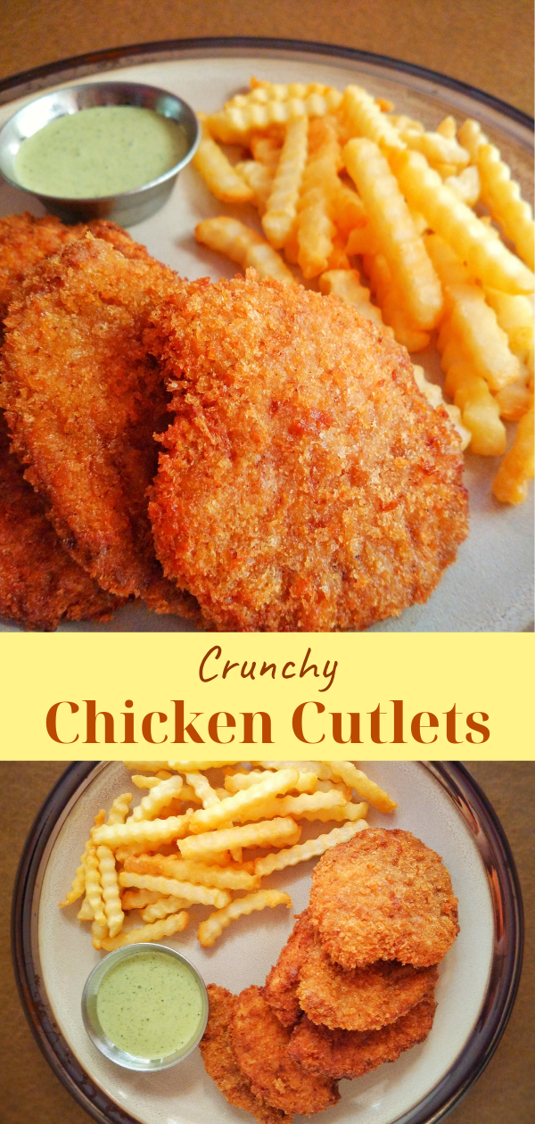 Breaded Chicken Cutlets | Crunchy Fried Chicken Recipe