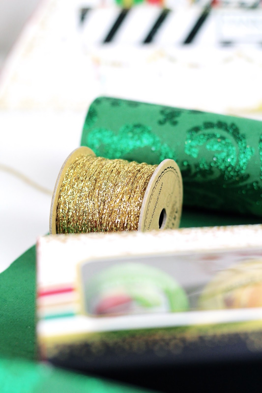 Gold twine for Christmas gift wrapping