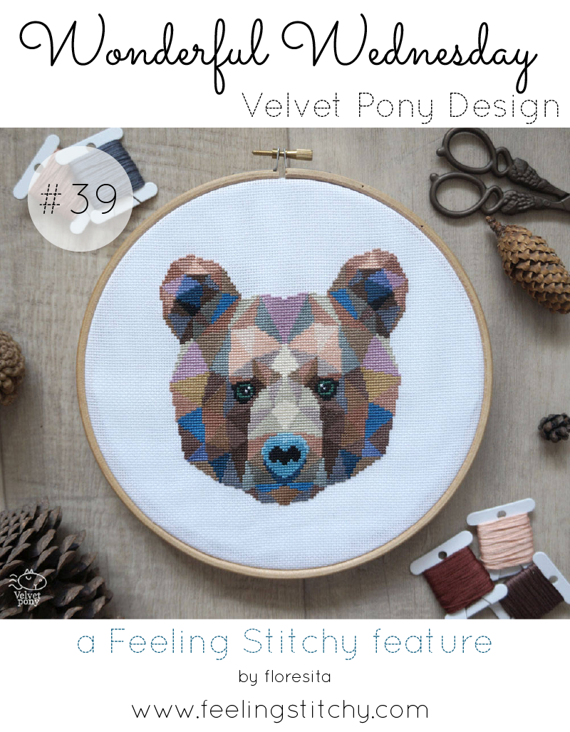 Wonderful Wednesday 39 Velvet Pony Design, a Feeling Stitchy feature by floresita