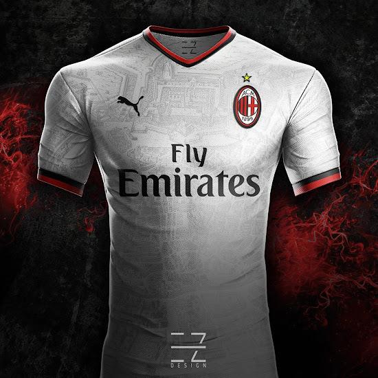 19cb09508 Puma AC Milan 2018-19 Concept Away Jersey