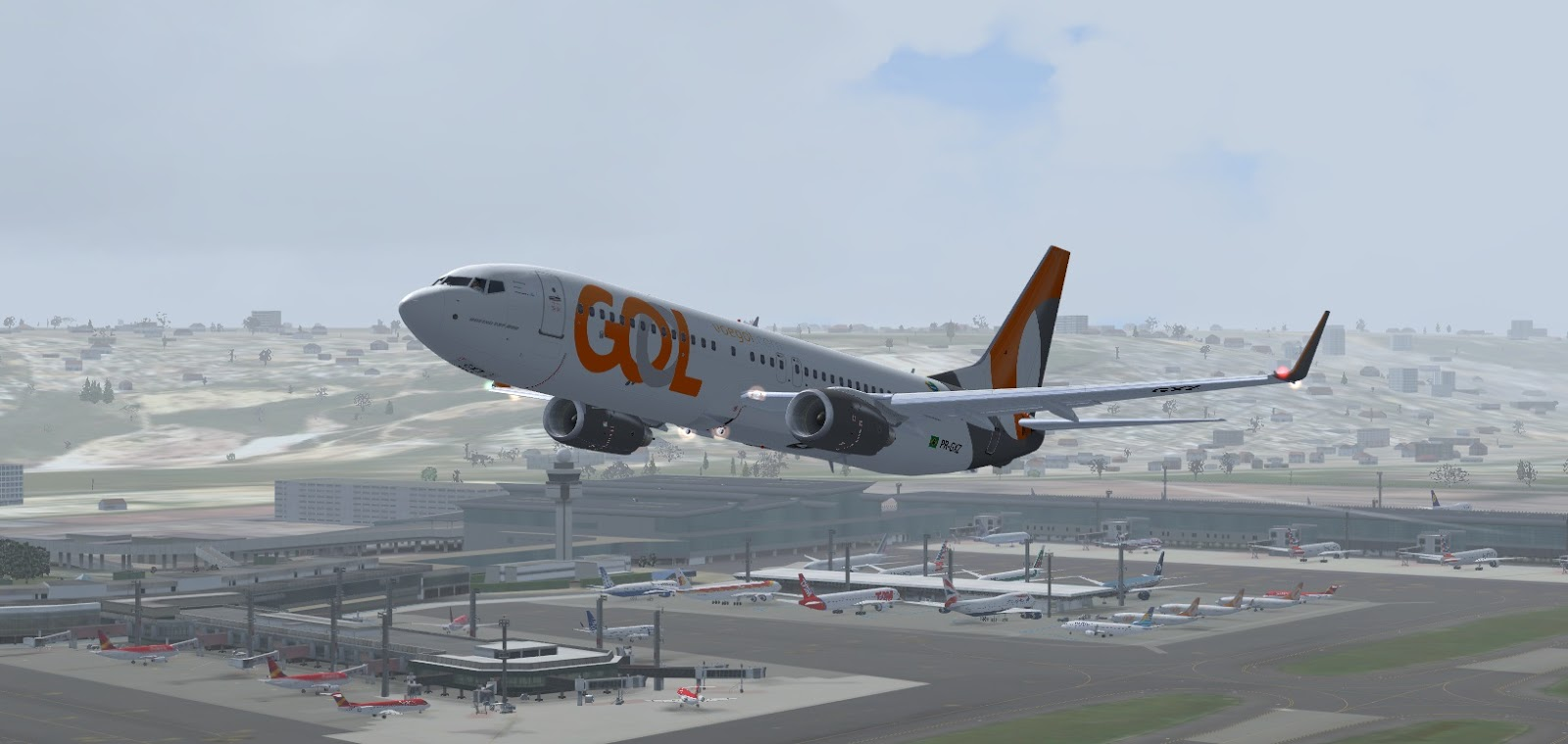 Aviação Arte: Boeing 737-800 Gol SMS
