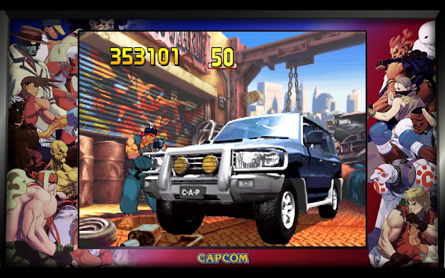 Street Fighter 30th Anniversary Collection - Street Fighter III - 2nd impact - Car-breaking Bonus Stage