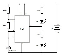 555 Led Flasher Schematic on 3 pin flasher relay wiring diagram
