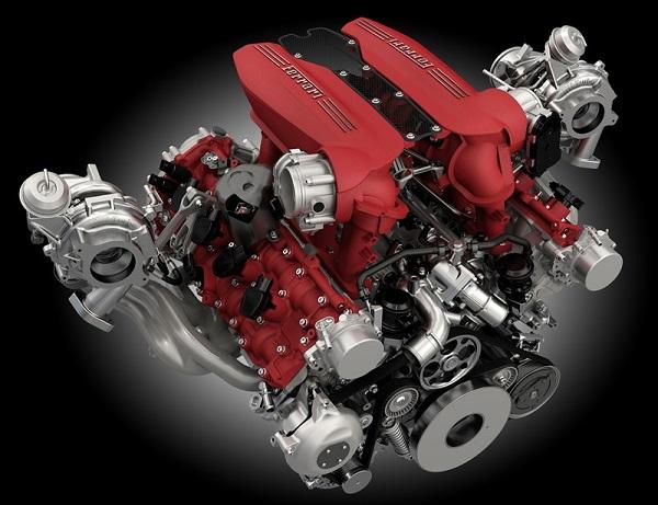 Motor V8 Ferrari válvulas argentinas