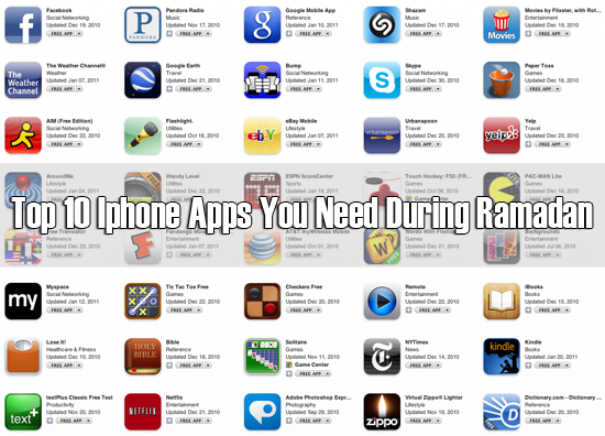 Top 10 Iphone Apps You Need During Ramadan