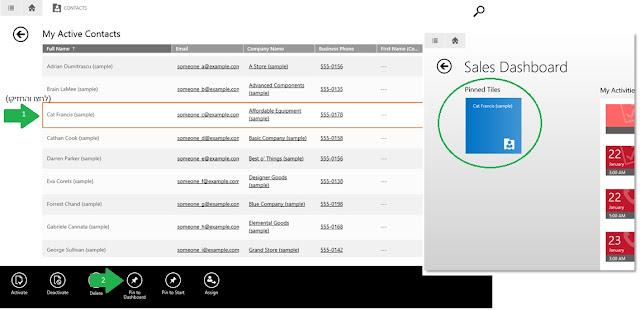 Dynamics CRM for tablet צרו לעצמכם קיצורים מועדפים