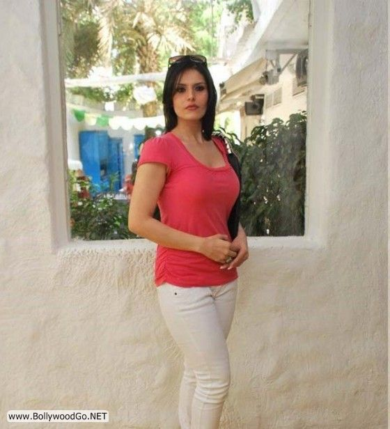 Zarine Khan S Hot Pictures In Pink Shirt And Jeans Wow 2d2 Game