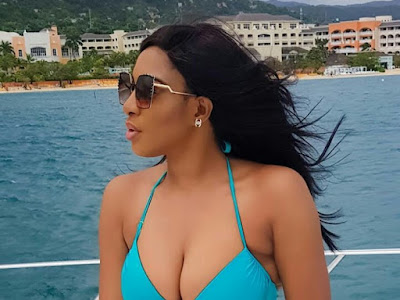 Nollywood actress, Chika Ike Ebireri, shares sexy pictures from her vacation in Jamaica.