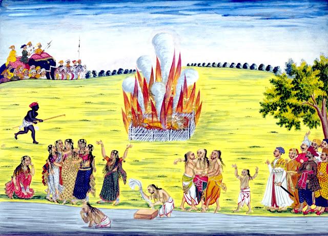Sati, an Indian caste