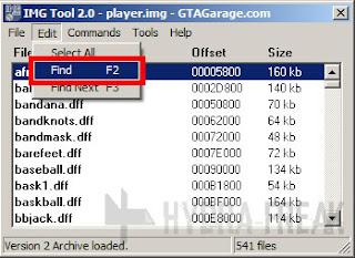 Cara mencari berkas dengan IMG Tool 2.0