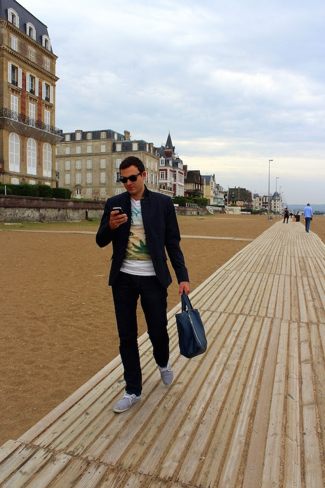 The beach in Trouville, France
