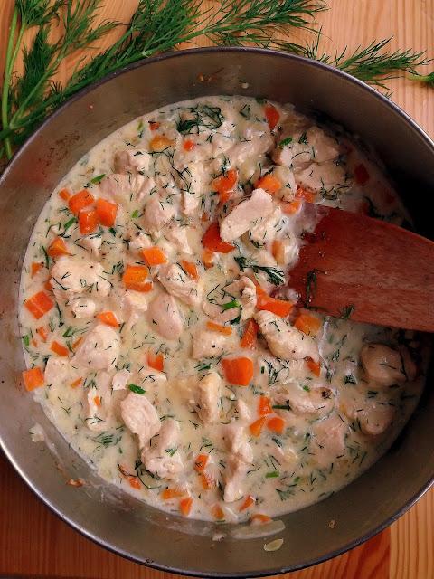 Kurczak w sosie koperkowym / Chicken in Creamy Dill Sauce