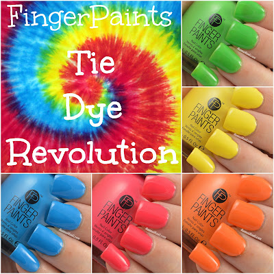 FingerPaints Tie Dye Revolution swatches