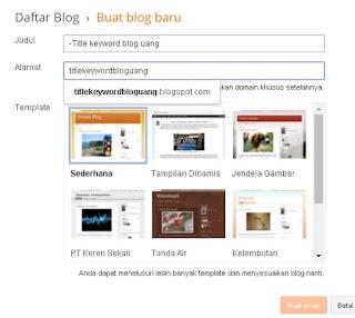 title keyword blog uang