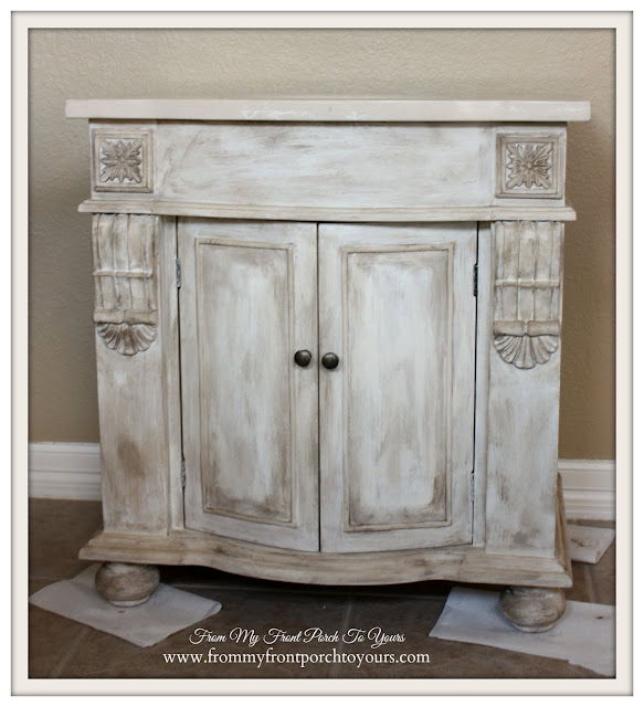 Farmhouse Guest Bathroom- Chalk Paint-Custom Bathroom Vanity-From My Front Porch To Yours