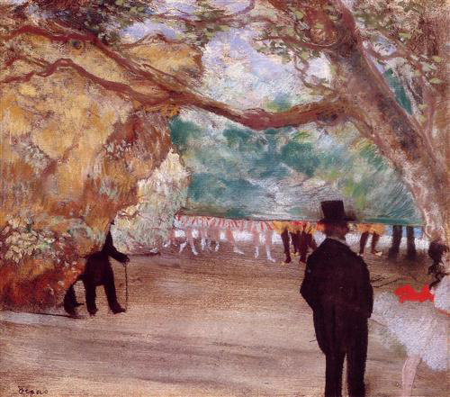 The Curtain by Edgar Degas