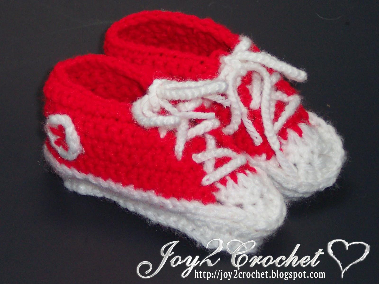 Joy 2 Crochet Crochet Converse Baby Shoes