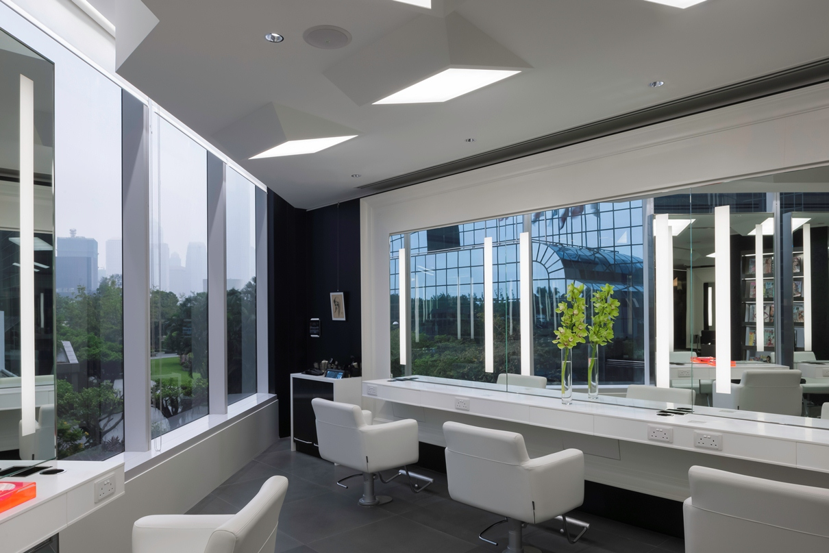 Parisian chic meets modern elegance: Upscale hair salon ... - Modern Barber Shop Interior